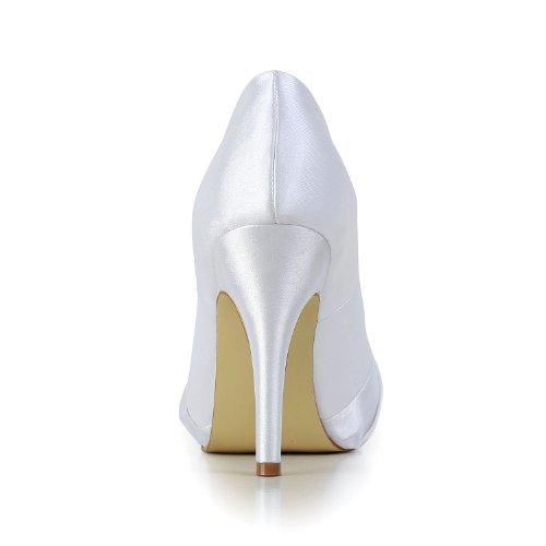Jia Jia Wedding 37012G Scarpe Sposa Scarpe col tacco donna Bianco