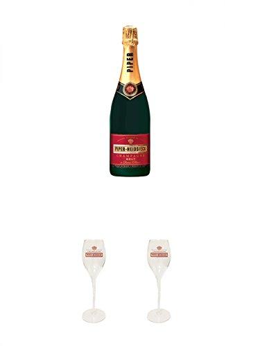 Piper-Heidsieck-Brut-Champagner-075-Liter-2-Stck-Piper-Heidsieck-Glas-mit-Schriftzug-und-Eichstrich