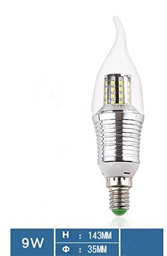 LED-Kerzen-Lampe, E14Schraube Energiesparend Leuchtmittel, 9W, Kronleuchter Leuchtmittel Licht-, 3Stück, B, schwarz (Schwarz Licht Kronleuchter 9)