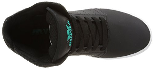 Supra Atom, Sneakers Hautes Mixte Adulte Noir (Black/Atlantis/White)