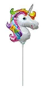 Idena 38211 - Globo de plástico, diseño de unicornio, multicolor