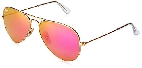 Ray-Ban Herren Sonnenbrille Rb 3025 Matte Gold/Greenmirrorfuxia One size (58)