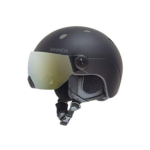 SINNER Skihelm mit Visier für Herren und Damen - Ski und Snowboard Helm mit Brille & Verstellbare Größe