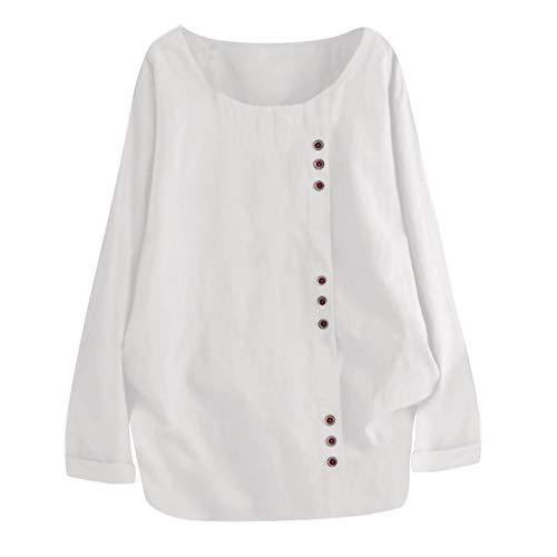 Day.LIN Damen Langarm T-Shirt Pullover Sweatshirt Oberteil Tops Shirts Vintage Floral Print Patchwork Bluse