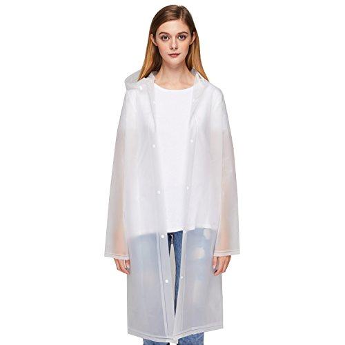 UNIQUEBELLA Transparent Regenmantel Regenponcho Regencape Regenjacke für Damen und Herren Wasserdicht Wiederverwendbar Eva Regenbekleidung Regen Zubehör