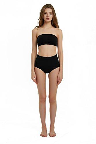 YJDS Shapewear Damen Unterhose, hohe Taille, nahtlos, Figurformende Unterwäsche - Schwarz - Größe X-Large -