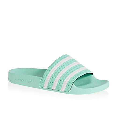 Adidas Adilette W, Zapatos Playa Piscina Mujer, Verde