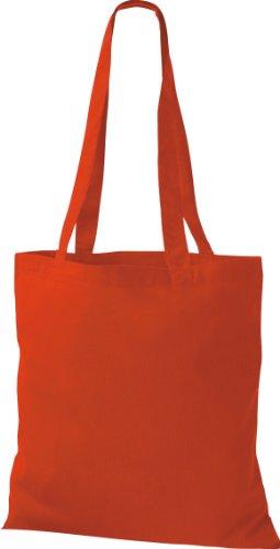 10x Stoffbeutel Baumwolltasche Beutel Shopper Umhängetasche viele Farbe bright red