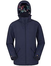 Mountain Warehouse Harris Womens Jacket - Adjustable Hoodie, Lightweight Ladies Summer Coat, Water Resistant Overcoat - for Spring Travelling, Camping & Walking