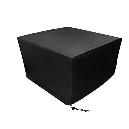 Noir,420D Oxford Bâche De Protection pour Mobilier De Jardin,123X123x74 Cm, pour Tables Et Chaises De Jardin, Housse De Protection Hydrofuge