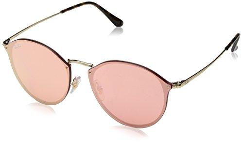 Ray-Ban Rayban Unisex-Erwachsene Sonnenbrille 3574n Gold/Pinkmirrorpink 59