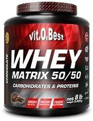 Vit-O-Best Whey Matrix 50/50 Proteínas, Sabor a Limón - 3600 gr