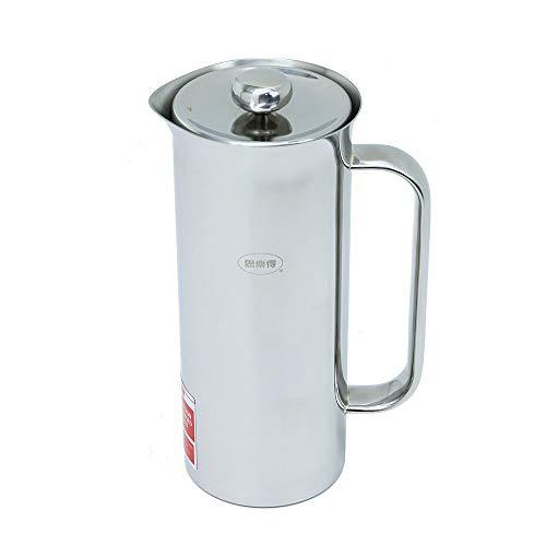 French Press-Vakuum Edelstahl Kaffeebereiter Geeignet für Familien, Büros, 620ML Silber Farbe