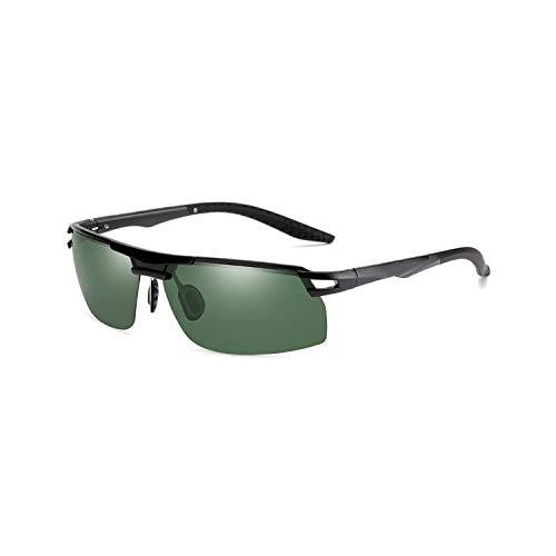 FGRYGF-eyewear2 Sport-Sonnenbrillen, Vintage Sonnenbrillen, Mens Vintage TR90 HD Polarisiert Sunglasses Night Vision Retro Sun Glasses Spiegel Lens Driving At Night For Men Women UV400 Black Green