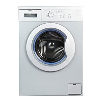 Haier 6 kg Fully-Automatic Front Loading Washing Machine (HW60-1010AS-1, Silver and Grey)