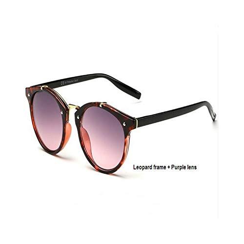 Sportbrillen, Angeln Golfbrille,Vintage Sunglasses Women Brand Designer Eyewear UV400 Gradient Female Retro Sun Glasses Oculos De Sol Feminino Gafas Leopard Purple