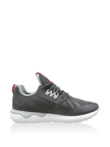 Adidas Mens Tubular Runner Weave Textile Trainers Dark Grey