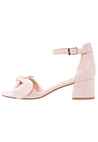 Anna field sandali con tacco medio da donna e cinturino alla caviglia, rosa, 36