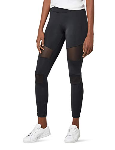 Urban Classics Ladies Tech Mesh Leggings, Schwarz (black 7), S (Leggings Sport)