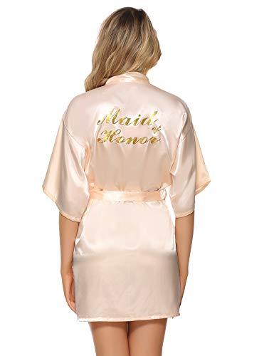 Vlazom Bride Bridesmaid Robes Satin Kimono Bridal