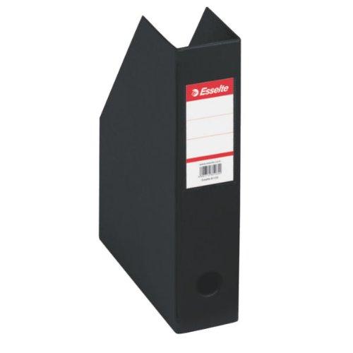 Esselte 56007 Stehsammler, A4, Pappe mit PVC-umschweisst, schwarz, 1 Stück