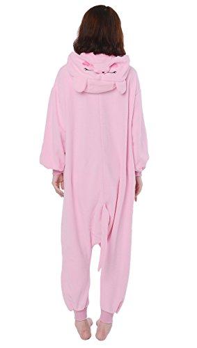 DATO Tier Pyjama Rosa Schwein Erwachsene Unisex Cospaly Onesies Nachtwäsche rosa schwein