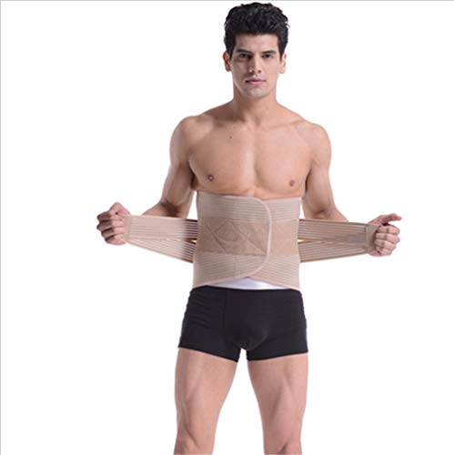 CZALBL Sports Belt Waist Support, Breathable Fitness Four Seasons Running Belt, geeignet für The Waist to Protect The Injured Waist with The Use,L