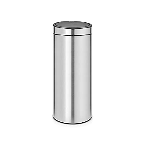 Brabantia Touch Bin New, 30 Litre - Matt Steel Fingerprint Proof