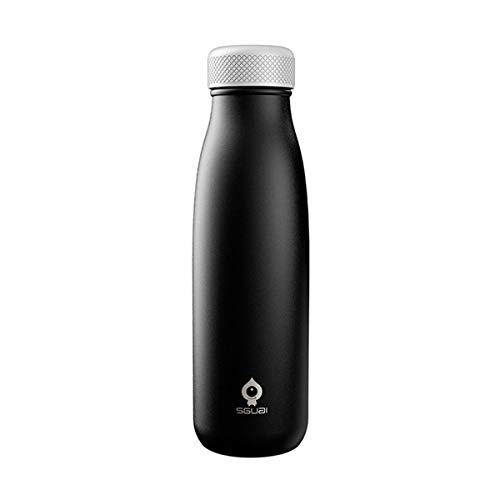 trimmen Shop 500ml doppelwandige Vakuum Isolierte Edelstahl Thermo Flasche mit Digital Display für Wasser Temperatur & Hydration Tracker Unterstützung Handy App Sync Bluetooth 4.0Smart Tasse G1 G1 Handy