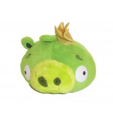 Plüsch Angry Birds grün König Schwein-King Pig Soft Toy-20cm x 23cm