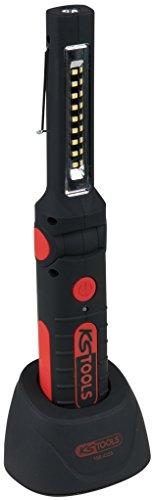 KS Tools 150.4355 LED-Akku-Arbeitslampe, knickbar rot/schwarz
