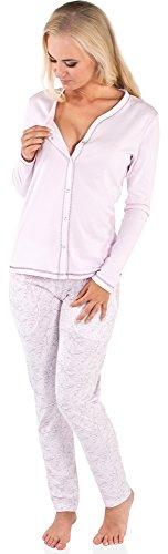 Italian Fashion IF Allattamento Pigiama per Donna Luda 0223 (Rosa, M)
