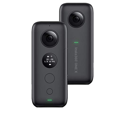 Insta360 One X Action Camera 4K Ultra HD Cam FlowState Stabilisierung 360°Underwater Camcorder 5.7K Auflösung und 18 MP Foto Panoramic VR Real Time WiFi Transfer (Wifi Foto)