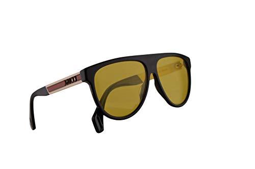 Gucci GG0462S Sonnenbrille Schwarz Weiß Mit Gelben Gläsern 58mm 001 GG0462/S 0462/S GG 0462S