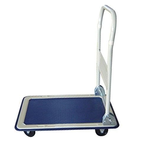 Plattformwagen - Klappbar - 150 kg Tragkraft - Transporthilfe mit Lenkrollen - Paketwagen - mit Antirutsch-Beschichtung - Klappwagen aus Stahl