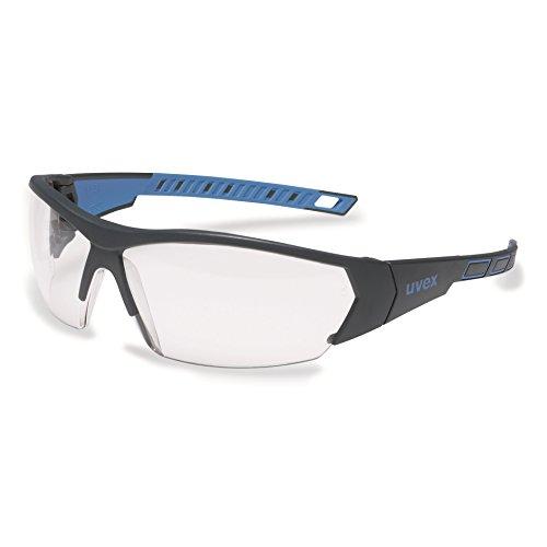 uvex i-works 9194 Unisex Brille EN 166 mit UV-Schutz + Hardcase - Sonnenbrille Schutzbrille Sportbrille Arbeitsbrille Radbrille (blau/klar)