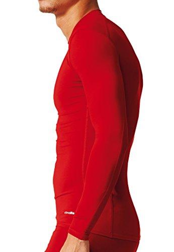 Adidas AJ5018, Maglia a Maniche Lunghe Uomo, Nero (Nero), XL Rosso (Rojpot)