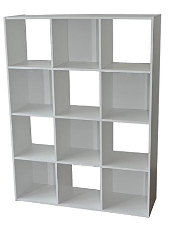 Alsapan - 483646 - Meuble de Rangement - Panneaux Blanc - 92 x 30 x 123 cm