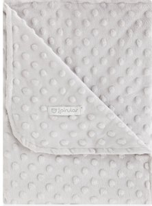 pirulos 64105130–Decke doppelseitig, 110x 140, Design Dots, Farbe grau