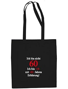 Ich bin nicht 60 - Stofftasche / Beutel