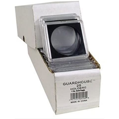 2x2 Coin Holders Box of 25 Guardhouse Snaplocks for One Ounce Gold Eagles by Guardhouse - Gold Coin Holder