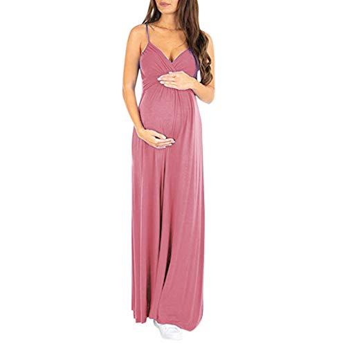 Vicgrey vestito premaman elegante estivo abito premaman fotografico senza maniche vestiti donna incinta allattamento pregnant gonna lunghi vestito donna stampa scollo a v abiti
