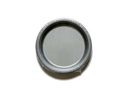 Amscan International 552284–17Kunststoff Teller, silber, 17,7cm
