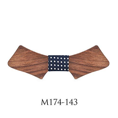 YAOSHI-Bow tie/tie Krawatten und Fliegen für Mens Solid Holz Fliege Krawatte Hochzeit Casual Anzug Fliege Krawatten und Fliegen für (Farbe : 43 EU, Größe : Free Size) -