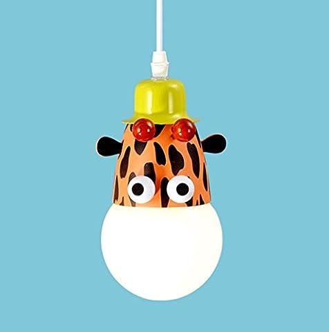 DGF Kinderzimmer Pocken Kronleuchter Kreatives Schlafzimmer Junge Mädchen Schlafzimmer Beleuchtung LED Karikatur Tiere Dekorative Lichter E27 Lichtquelle ( Farbe : Single head giraffe )