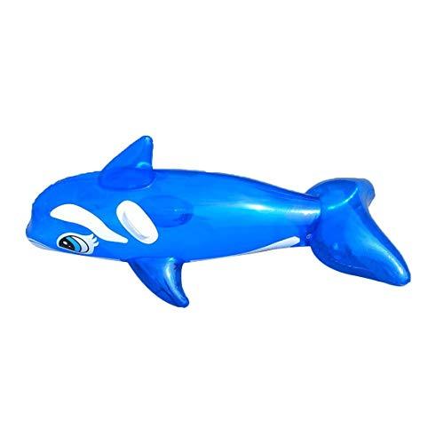Harlls 【Frohes Jahr ❤ ~】 Schöne Dolphin aufblasbare Sitz Floß schwimmende Bett Float Swimming Pool Kinder Sommer Strand Meer Urlaub Wasser Party Spielzeug - blau
