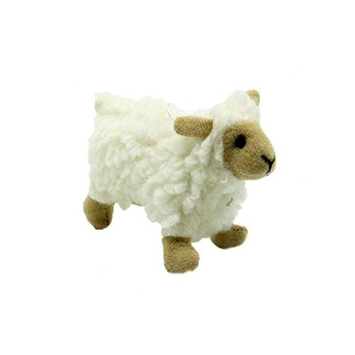 Trifycore Nettes Plüsch quietschendes Spielzeug Pet Zahn Kauen Fetch Tug Molar Spielzeug Pet Hundetrainer für Katzen -Sheep Formen, Zubehör für - Hundetrainer Kostüm