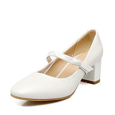 Talloni delle donne Primavera Estate Altro similpelle festa di nozze e abito da sera tacco grosso Blu Rosa Bianco Altro White