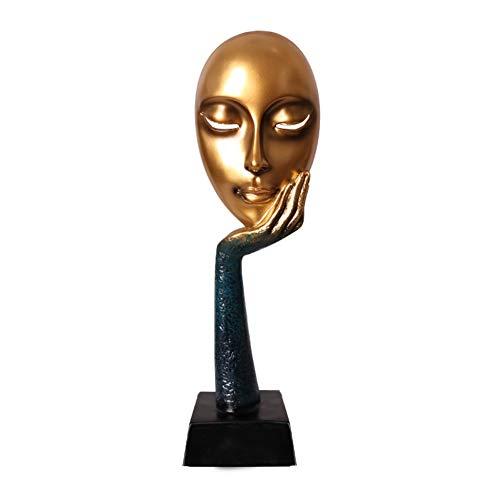 Oybb statue sculture ornamenti maschera di carattere decorazione soggiorno creativo armadietto per il vino tv gabinetto artigianato decorazioni per la camera piccoli arredi regali d'apertura