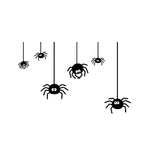 ll Decals Spinne Hintergrund Fenster Aufkleber Aufkleber für Wohnzimmer Schlafzimmer ()